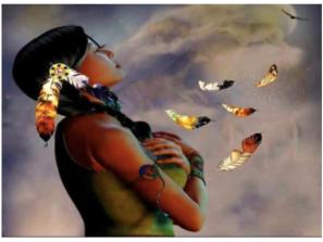 žena, indiánka